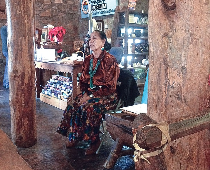 Nanabah Aragon tells stories at the Smoki Museum's Storytellers. (Cindy Gresser/Courtesy)