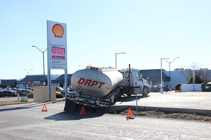 Gas Tanker Gets Stuck In Ditch In Prescott Valley