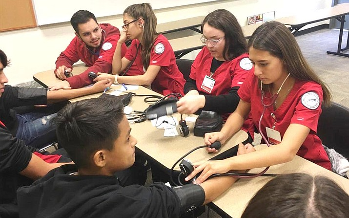 Eighth grade students from Camp Verde Middle School and Oak Creek School tour Valley Academy of Career and Technology Education's centralized campus in Cottonwood. Photos courtesy Valley Academy of Career and Technology Education