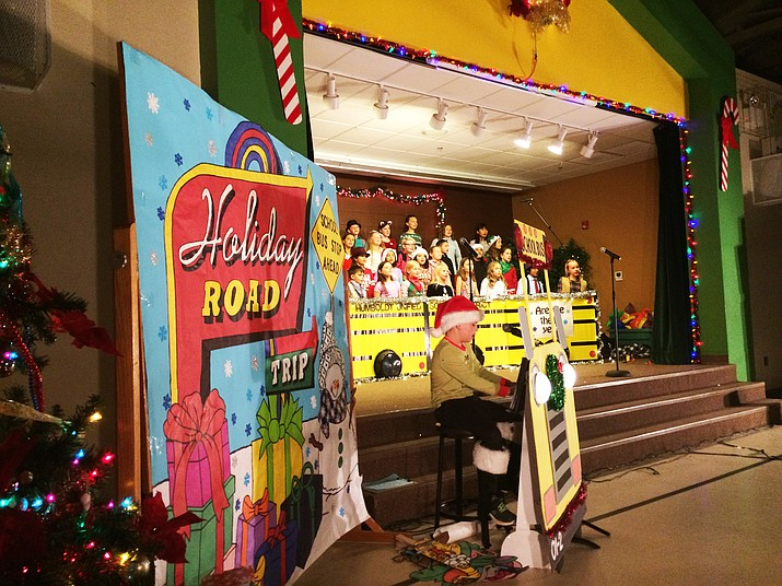 Humboldt Unified School District's Granville Elementary choir presented a 'Holiday Road Trip' for its Christmas concert. (Nanci Hutson/Courier)