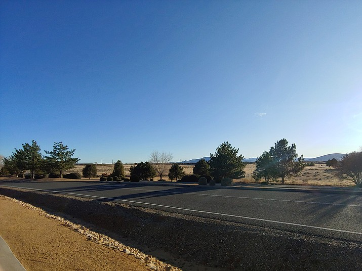 Pictured, a view from Antelope Meadows Drive near its intersection with Pronghorn Ranch Parkway, looking west, where open space rests for the future 189-home Antelope Park subdivision in Prescott Valley. (Doug Cook/Courier)