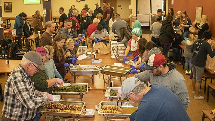 You can help make a senior citizens' day by going to the cafeteria at Kingman Regional Medical Center at 10:30 a.m. today to help plate and deliver Christmas meals to home-bound senior citizens. (Courtesy photo)
