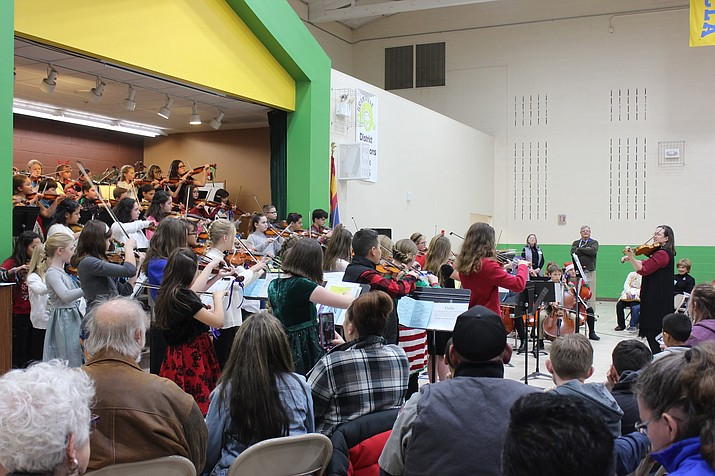 The Humboldt Unified School District (HUSD) Combined Orchestra played its first Holiday Concert Dec. 16 at Granville Elementary School in Prescott Valley. (Courtesy)