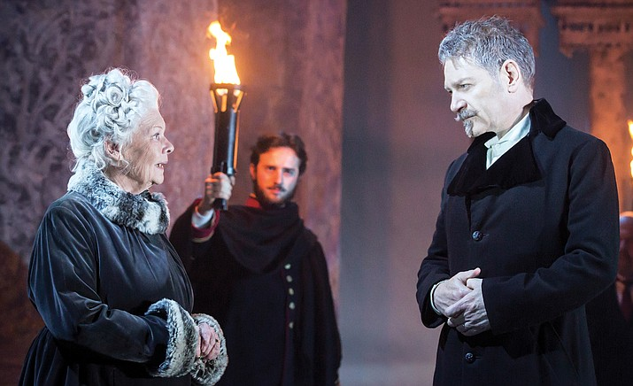 "Due to phenomenal demand, ""The Winter's Tale"" — Shakespeare's timeless tragicomedy of obsession and redemption — returns to cinemas this festive season. This beautifully reimagined production, co-directed by Rob Ashford and Kenneth Branagh, features a remarkable cast including Dame Judi Dench as Paulina, alongside Tom Bateman, Jessie Buckley, Hadley Fraser, Miranda Raison and Sir Kenneth Branagh as Leontes. (Courtesy)"