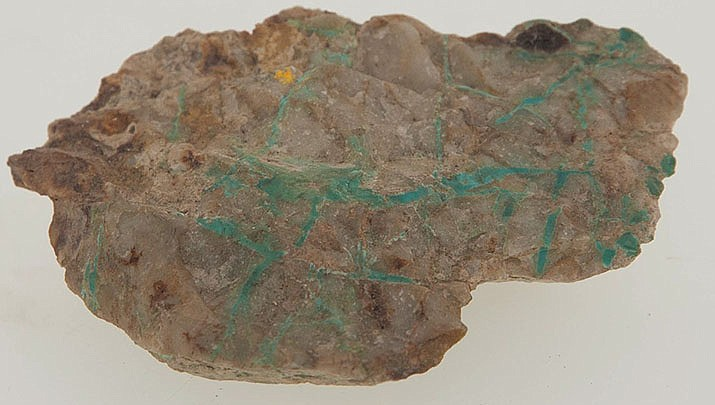 Pictured here is a Turquoise specimen digitized to show detail. A free program about the cultural history of turquoise will be presented on Saturday, Jan. 11 at the Mohave Museum of History and Art, 400 W. Beale St. (University of South Carolina courtesy photo, cc-sa-by-4.0, https://bit.ly/2MTogmE)