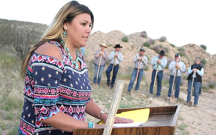In April, the Camp Verde Arena Association broke ground on the 35.61-acre equestrian center to the east of the Camp Verde Sports Complex. Pictured, Camp Verde Arena Association President Mary Phelps. VVN/Bill Helm