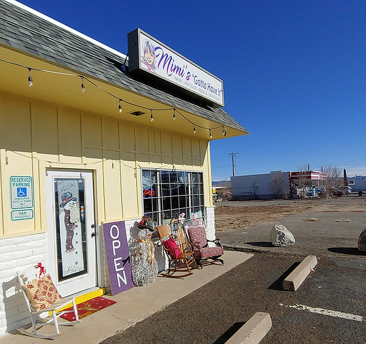 "Longtime Prescott Valley resident Kim Warren recently opened Mimi's ""Gotta Have It,"" 8172 E. Highway 69, which sells new, antique, resale, or boutique furniture and housewares. (Doug Cook/Courier)"