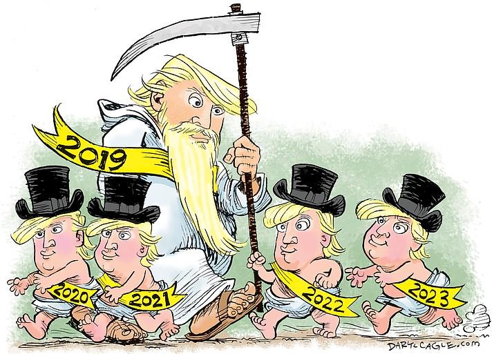 Editorial cartoon (2): Dec. 29, 2019