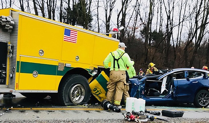 A 23-year-old Prescott Valley woman died, and her husband was seriously injured, in a crash on Interstate 70 in Putnam County, Indiana on Sunday, Dec. 29, 2019. (Indiana State Police)