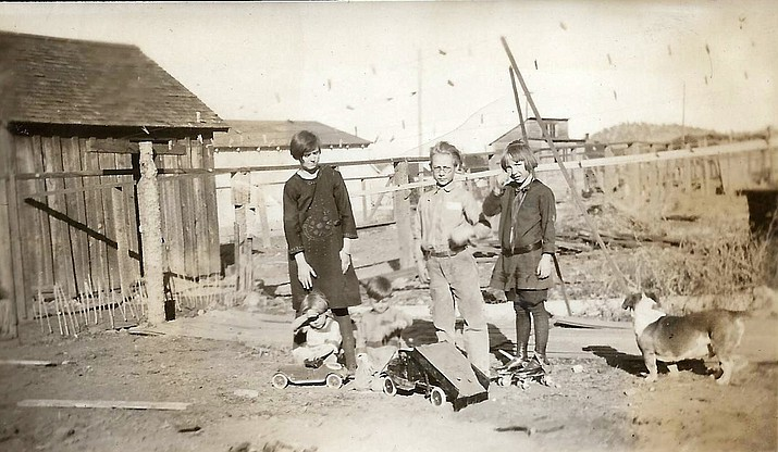 Members of the Messimer family enjoy their new toys on Christmas day in Williams in 1926. (photo/Messimer family)