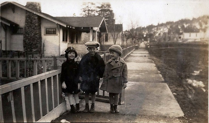 The streets of Williams were muddy in the winter of 1926. (photo/Messimer family)