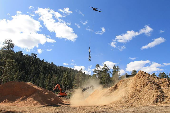 The U.S. Forest Service, National Forest Foundation, Coconino County and Markit! Forestery have agreed to temporarily delay aerial fuels treatment on Bill Williams Mountain because of inclement weather. (Wendy Howell/WGCN)