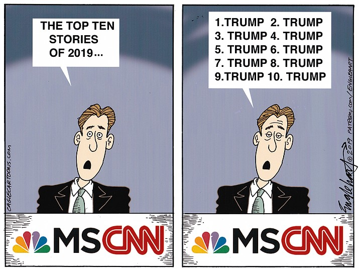 Editorial cartoon (1) Jan. 1, 2020
