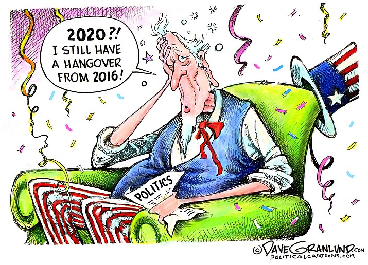 Editorial cartoon (2): Jan. 1, 2020