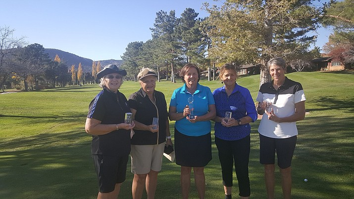 From left to right:Marion Maby, Kathy Davidson, Donna Cantello, Barbara Erickson and Penny Fischer.