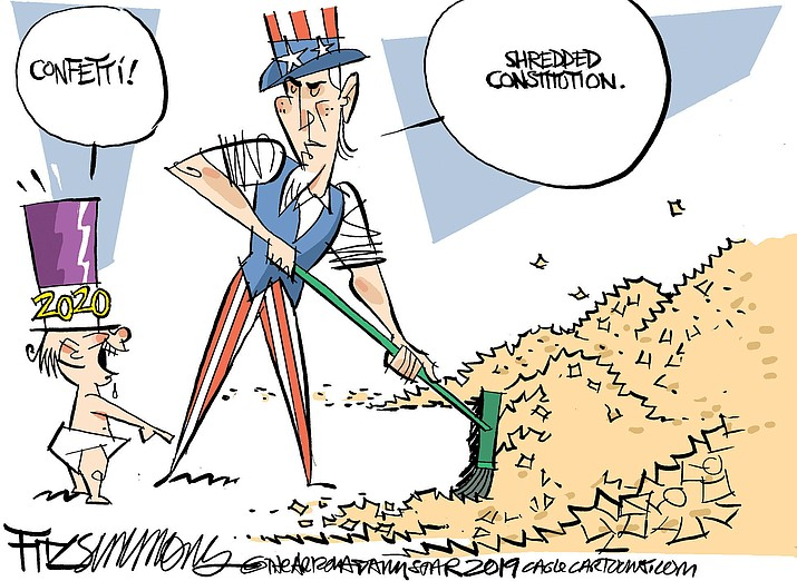 Editorial cartoon (1): Jan. 3, 2020
