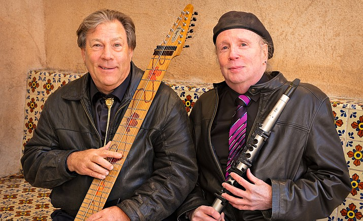 """There have been a countless number of instrumental duos throughout the years, but none have featured the two unique little-known American instruments known as The Chapman Stick and the EWI (Electronic Wind Instrument). That is, not until Michael Kollwitz, left, and Walton Mendelson joined together to record the album """"In The Moonlight"""" under the moniker """"The Stick EWI Project."""""""