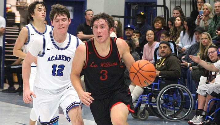 Lee Williams senior Kade Juelfs scored a game-high 21 points Friday in a 60-38 rout of River Valley. The Vols are back on the road Tuesday at Dysart. (Miner file photo)