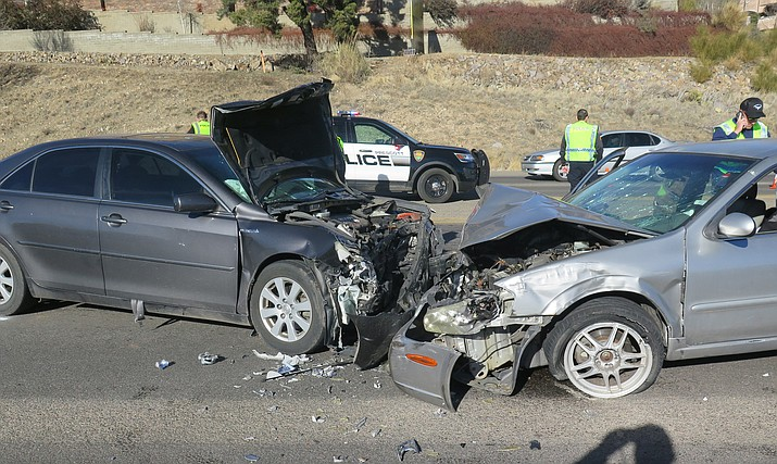 A head-on crash on Highway 69 left one dead and several others injured on Jan. 6, 2020. (PPD/Courtesy)