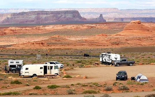 Campers at the Beehives Primitive Campground in the Ferry Swale Area of Glen Canyon National Recreation Area. (Photo/NPS)
