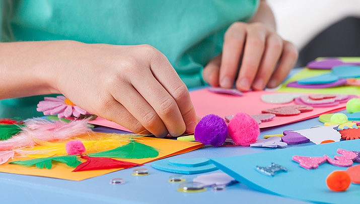 Children can come and make some fun arts and crafts at the Dewey-Humboldt Town Library, Lower Level, 2735 Corral St. from 3:30 to 4:30 p.m. on Wednesday, Jan. 8. (Stock image)