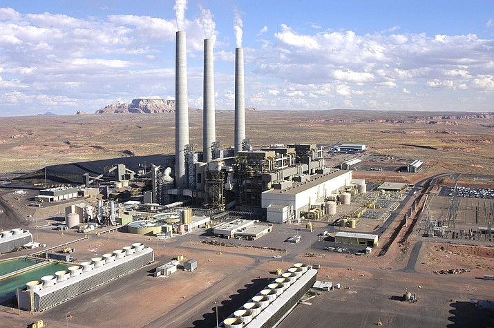 The coal-fired Navajo Generating Station near Page and the affiliated coal mine in Kayenta provided hundreds of jobs in the region for decades before closing down last month. Both facilities still face years of shutdown and cleanup operations. (Amber Brown/SRP)