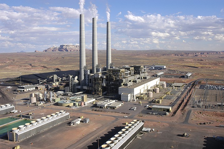 The coal-fired Navajo Generating Station near Page and the affiliated coal mine in Kayenta provided hundreds of jobs in the region for decades before closing down last month, victims of changing economics. But both facilities still face years of shutdown and cleanup operations. (Photo by Amber Brown/Courtesy SRP)