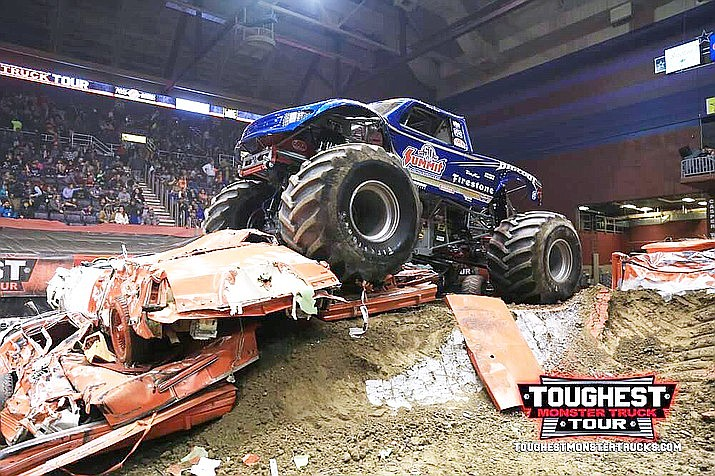 """Come and check out the """"Toughest Monster Truck Tour"""" at the Findlay Toyota Center, 3201 N. Main St. in Prescott Valley on Friday and Saturday, Jan. 10-11. (Toughest Monster Truck Tour/Courtesy, file)"""