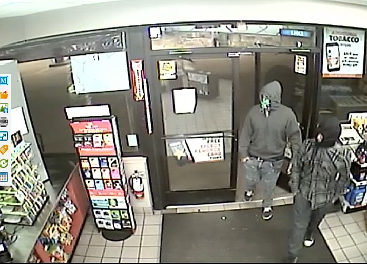 According to Cottonwood PD Sergeant Monica Kuhlt, two men entered Speedway at about 11:45 p.m. Tuesday, both armed with semi-automatic handguns, and robbed the attendant of an undisclosed amount of money. The suspects fled on foot behind the store and are still at large. Cottonwood PD courtesy photos