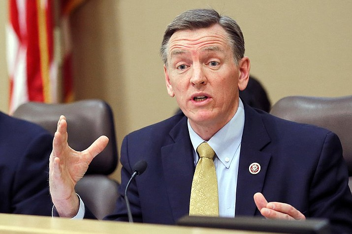 Congressman Paul Gosar, R-Ariz. District 4, is getting criticism after tweeting a doctored picture of former President Barack Obama and Iranian President Hassan Rouhani in which he seemed not to realize the foreign leader remains in power. (Matt York/AP, file)