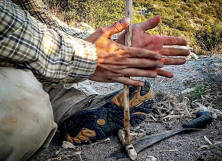 Al Cornell will demonstrate pre-historic to new world fire starting methods. This includes the hand drill, the bow drill and the arctic strap drill methods. There is no fee for these demonstrations.