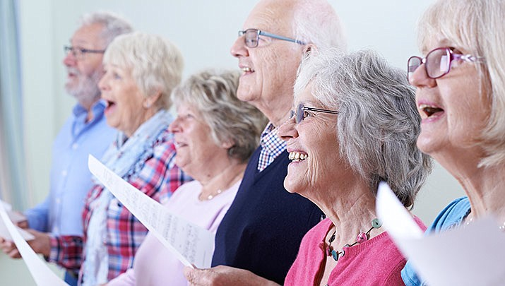 """Seniors are invited to spend time together and sing songs of their youth at """"Singing in the Key of Life"""". This free group meets on Wednesdays from 10 to 11:30 a.m. in the Deborah room at the Prescott United Methodist Church, 505 W. Gurley St. (Stock image)"""