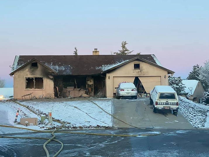 A Prescott Valley home after a fire early Friday morning, Jan. 10, 2020. (CAFMA/Courtesy)