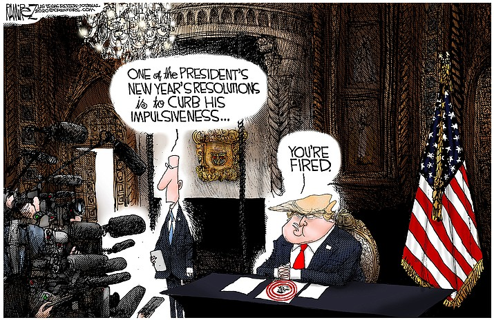 Editorial cartoon (2): Jan. 11, 2020