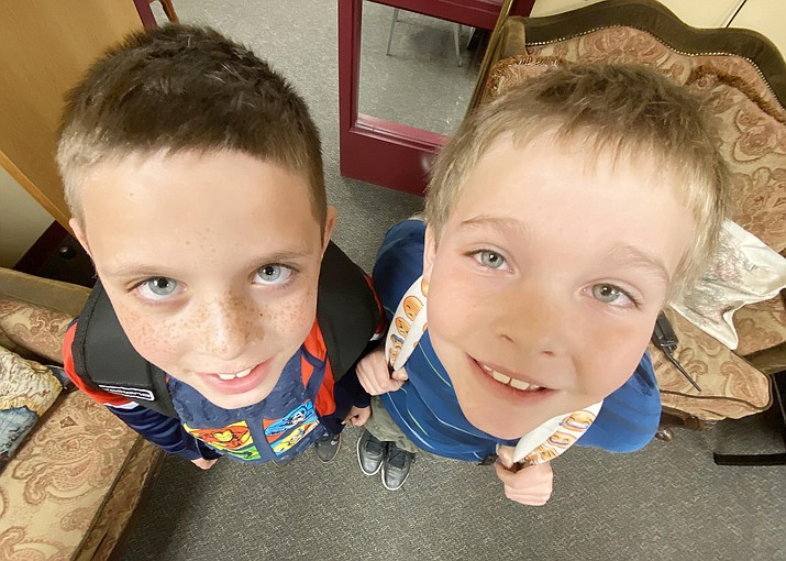 Things are looking up for Beaver Creek third graders Frankie Baiamonte and Ian Campbell, who are improving their reading skills thanks to the school's partnership with the Sedona Literacy Center. VVN/Bill Helm
