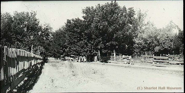 By Aug. 13, 1911, Sharlot was in Fredonia, a Mormon community not far from Arizona's border with Utah. (Painted lantern slide, box 5-18) (Sharlot Hall Museum Library & Archives, Sharlot M. Hall Collection, MS-12-Lantern Slide Section/Courtesy)