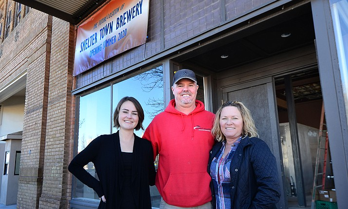 The Park Hotel will be ready this spring, according to the owners Becky and Craig Backus. Daughter Allyn Backus, left, will run the Smelter Town Brewery, inside the hotel, which should be open this summer. VVN/Vyto Starinskas
