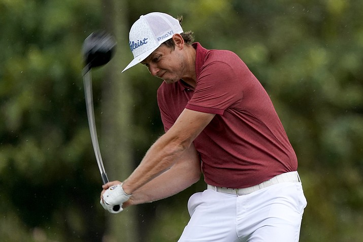 Cameron Smith hits from the second tee during the final round of the Sony Open PGA Tour golf event, Sunday, Jan. 12, 2020, at Waialae Country Club in Honolulu. (AP Photo/Matt York)