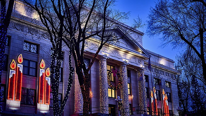 "The friends of Jersey Lilly Courthouse Christmas Lighting Fundraising Committee is hosting a ""Lights Out Party"" at the Jersey Lilly Saloon, 116 S. Montezuma St. in Prescott from 5 to 8 p.m. on Thursday, Jan. 16. (Courtesy, file)"