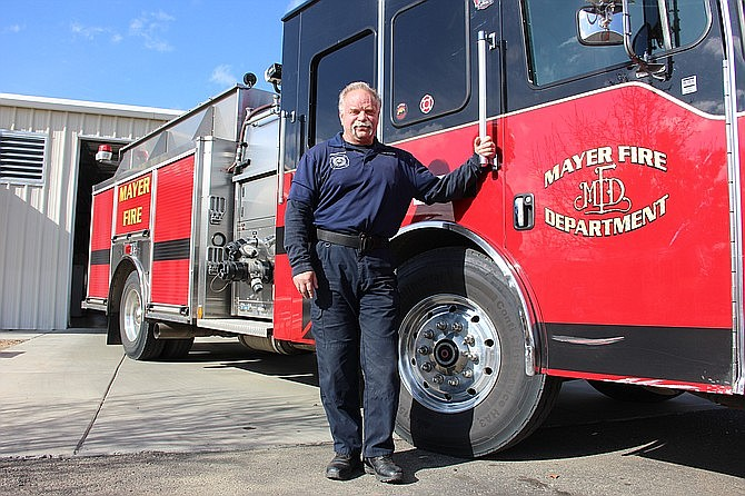 Mayer Fire Chief Mike McGhee anonymously donated a kidney in October 2019. He said it was something he was meant to do. (Max Efrein/Courier)