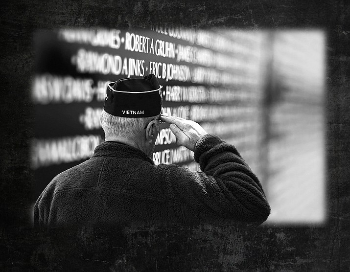 The Moving Wall will be on display in Williams in June. The city of Williams is sponsoring the event. The Moving Wall contains the names of Vietnam veterans killed or unaccounted for during the Vietnam War. (Photo courtesy of The Moving Wall/graphic Wendy Howell)