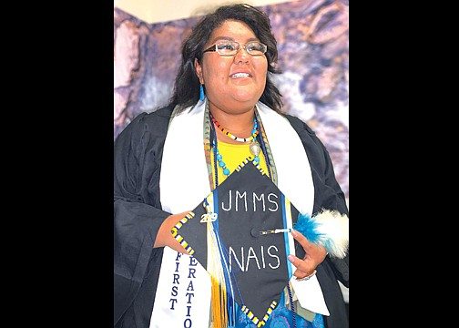 Lacey Tewanema attends Fort Lewis College's winter commencement ceremony Dec. 20, 2019. Tewanema is a graduate of Hopi High School. (Submitted photo)