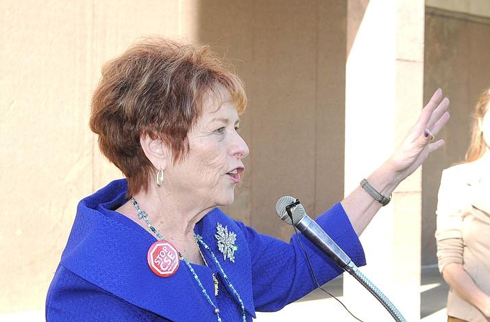 Sen. Sylvia Allen lashes out at Senate Republican leaders on Monday, Jan. 13, 2020. (Howard Fischer/Capitol Media Services)