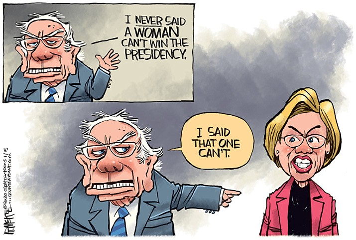 Editorial cartoon (1b): Jan. 15, 2019