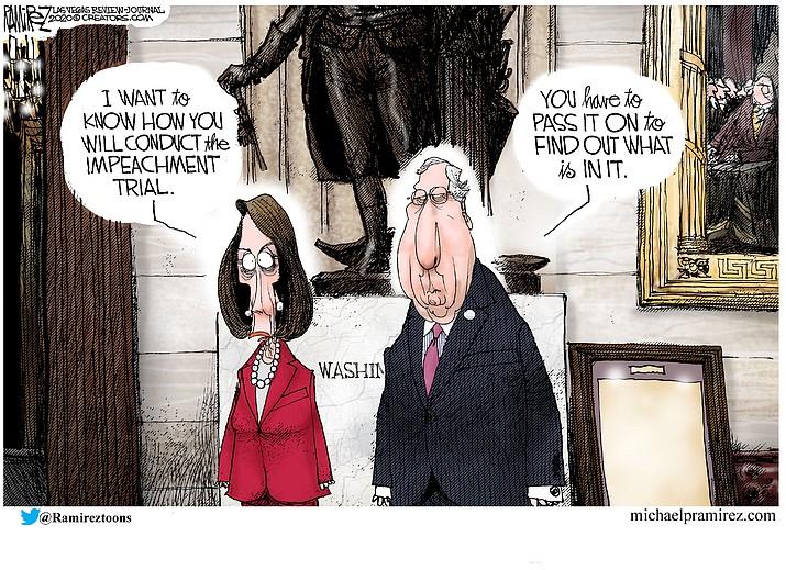 Editorial cartoon (2): Jan. 16, 2020