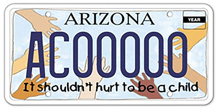 The Governor's Office of Youth, Faith and Family is accepting applications for the Arizona Child Abuse Prevention and Advocacy License Plate Grant Program. (ADOT courtesy photo)