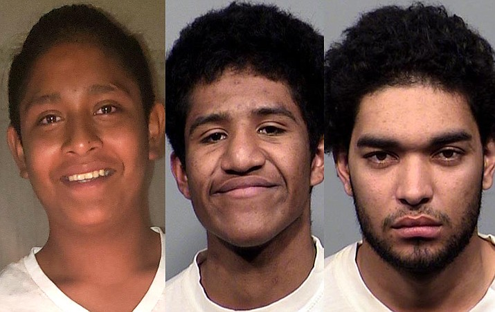"From left: Marcelino ""Danny"" Baltazar, Antwon Gyce, Anthony Green. Cottonwood PD courtesy photos"