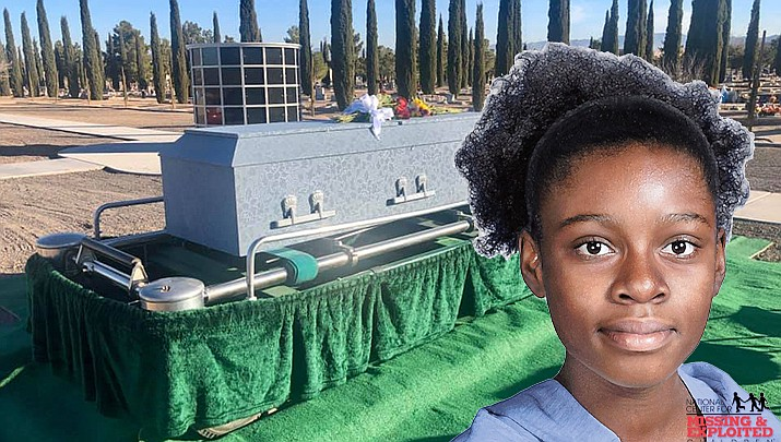 The funeral service for an unidentified female juvenile, whose body was found three years ago in the desert near Dolan Springs, took place on Wednesday, Jan. 15 at Mountain View Cemetery, 1301 Stockton Hill Road. (Mohave County Sheriff's Office photo)