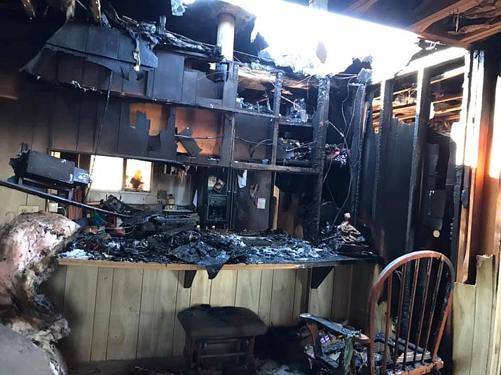 Central Arizona Fire & Medical Authority responded to a fire in the 2600 block of Eldred Road in Chino Valley Saturday afternoon, Jan. 18, 2020. (CAFMA/Courtesy)
