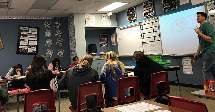 Students at Heritage Middle School are seen during a class session. (Courtesy)